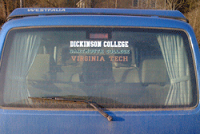 example of custom window stickers showing which printed color works best.