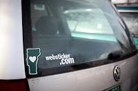 Websticker vinyl cut custom decal on car window
