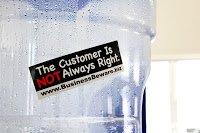 Custom Sticker for Business Beware made by Websticker