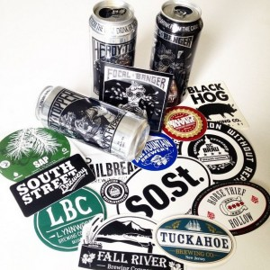 promotional stickers made for the craft beer industry by Websticker.com