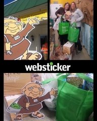 Ned and Websticker Staff Deliver Food To Local Food Shelf