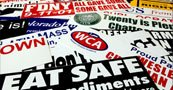 Pile of Bumper Stickers Custom Made By Websticker