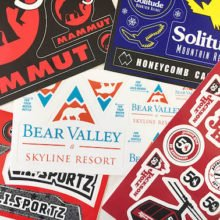 Vinyl sticker sheets for Mammut, Solitude, Bear Valley & Jackson Hole custom made by Websticker